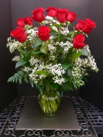 Long and Lovely Red Rose Vase