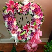 Pink Standing Spray Wreath