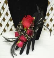 Red Roses Wristlet