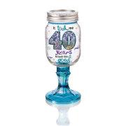 Rednek 40 Wine Glass
