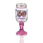 Rednek 50 Wine Glass