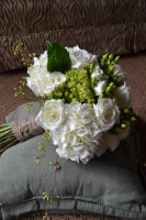 Shabby Chic and Burlap Bouquet