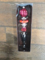 Tall Glass Bottle Stopper (Red)