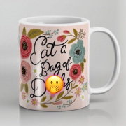 Pretty Sweary Eat a Bag of D*s 15 oz Mug