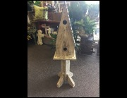 Large Double White Birdhouse