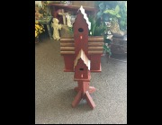 Multiple Red Birdhouse