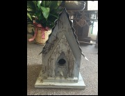 Medium Blue Birdhouse