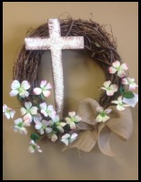 Cross Sympathy Wreath
