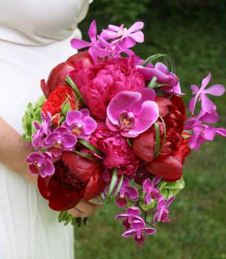 Peony and Orchid Bridal Bouquet