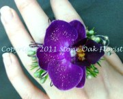 Purple Orchid Ring Corsage