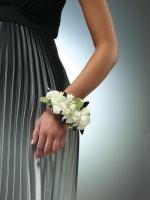 White Dendrobium Orchid Wrist Corsage