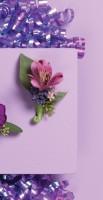 Lavender Alstroemeria Boutonniere