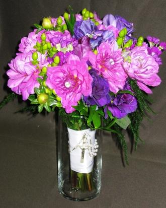 Lavender Dahlia Bridal Bouquet