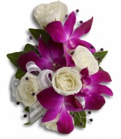 Orchid and Spray Rose Corsage