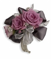 Rhinestone and Roses Corsage