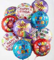 12 Happy Birthday Mylar Balloons