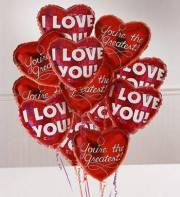 12 Love You Mylar Balloons