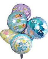 Six it's a Boy Mylar Balloons