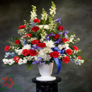 Red White and Serenity Arrangment