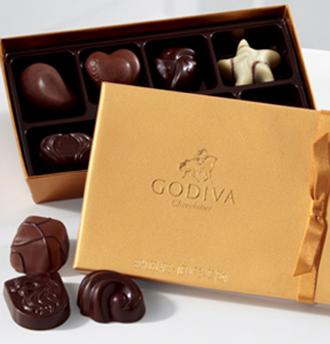 Gold Godiva Chocolate Box