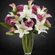 Flowing Luxury Rose & Lily Bouquet