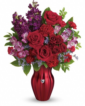 Teleflora\'s Shining Heart Bouquet