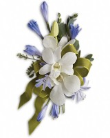 Blue and White Elegance Corsage