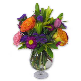 Pamper Me, asters, tulips, thinking of you, thank you