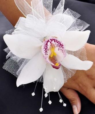 Cymbidium Orchid Wristlet