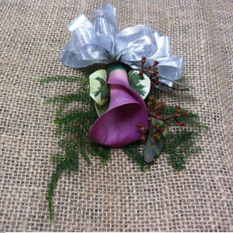 Mini-Calla Lily Corsage, corsages & boutonnieres