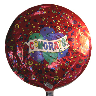 Congrats Balloon, containers and accessories