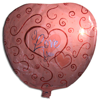 I Love You Balloon, containers and accessories
