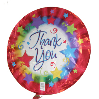 Thank You Balloon, containers and accessories