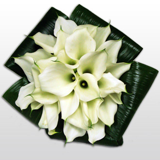 Modern Calla Bouquet, tropical, bridal bouquet