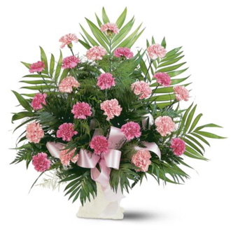 Classic Carnation Arrangement, sympathy and funeral