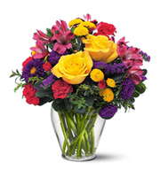 Brighten Your Day, alstromeria, asters, carnations, chrysanthemums, birthday