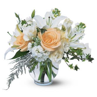 Timeless Roses and Lilies, wedding centerpieces