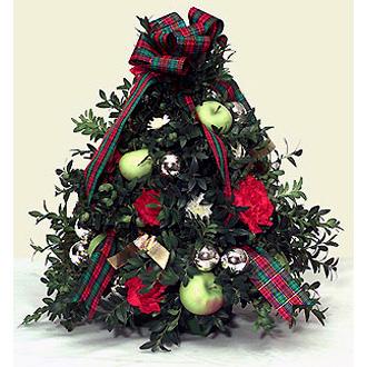 Holiday Boxwood Tree Christmas