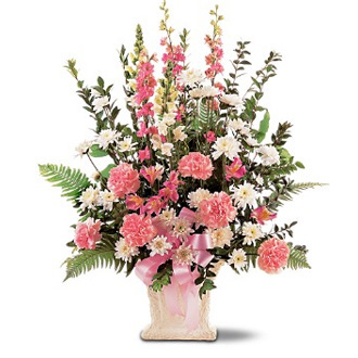 Loving Hope, daisies, carnations, snapdragons, sympathy and funeral