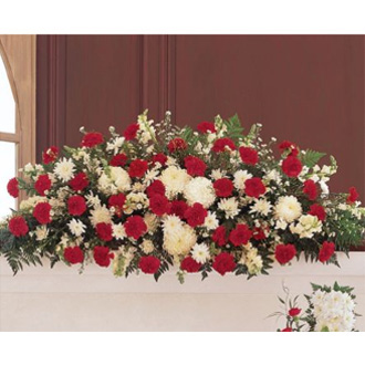 Hope and Honor Casket Spray, sympathy and funeral