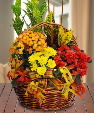 Blooming Fall Garden Basket