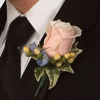 Rose Bloom Boutonniere, corsages & boutonnieres