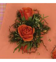 Autumn Roses Corsage, corsages & boutonnieres