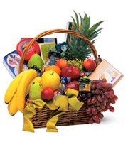 Party in a Basket, fruit, birthday, housewarming, gourmet baskets, corporate gifts
