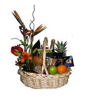 Grand Finale, fruit, flower, thank you, gourmet basket, corporate gifts