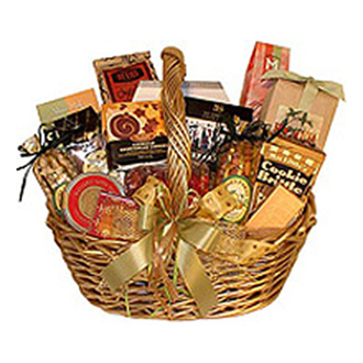 Taster\'s Delight, cookies, chocolates, nuts, cheeses, crakers, cider, coffee, tea, preserves, candies, birthday, congratulations, get well, gourmet baskets, corporate gifts
