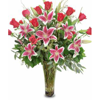 Enchanted lilies, roses, stargazer, year round