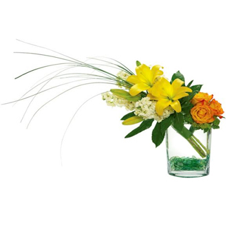 Serenity Garden, lilies, roses, bear grass, thinking of you, friendship