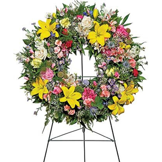 Warm Thoughts Wreath, sympathy and funeral