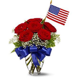 Star Spangled Roses, patriotic, military
